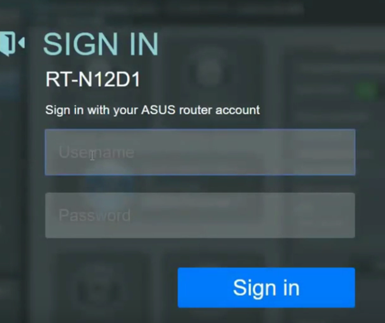 Asus login - wireless