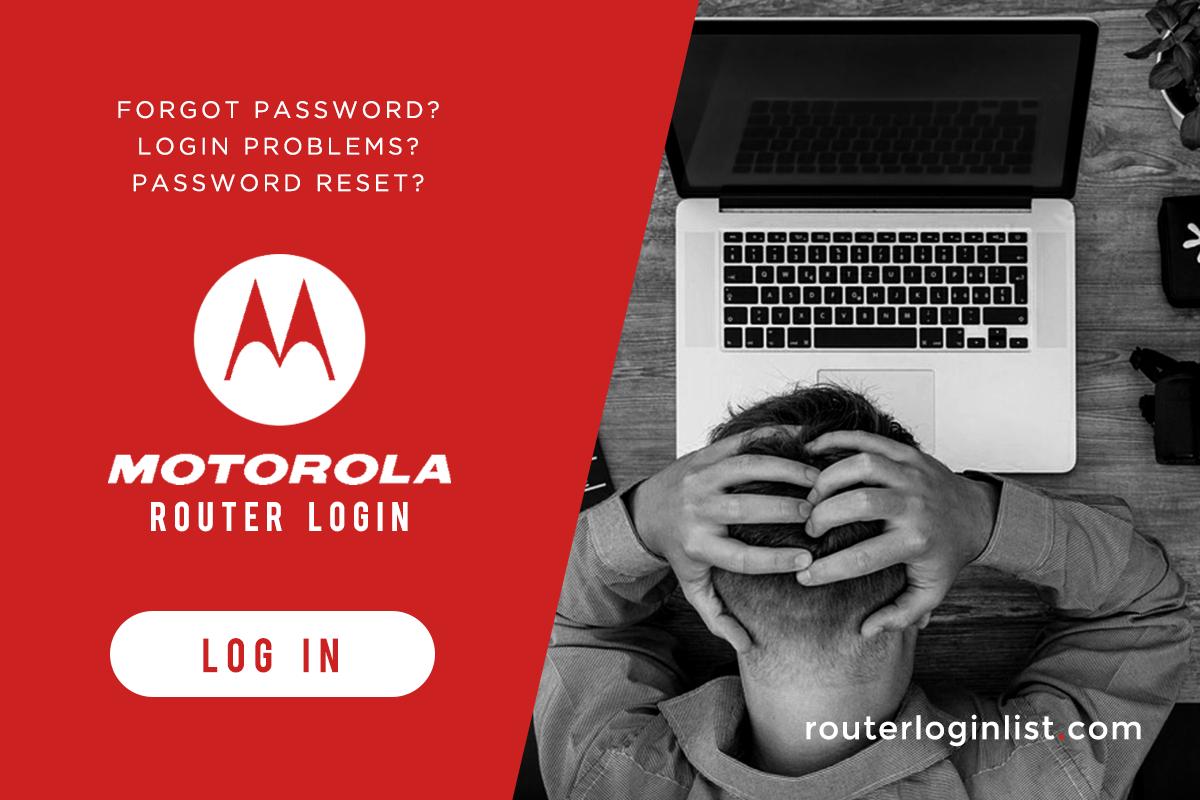 Motorola router log in
